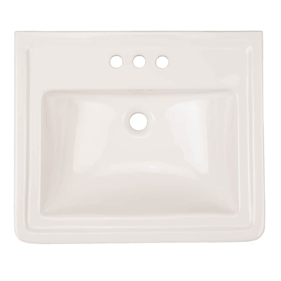 AquaSource 33.6-in H White Vitreous China Pedestal Sink