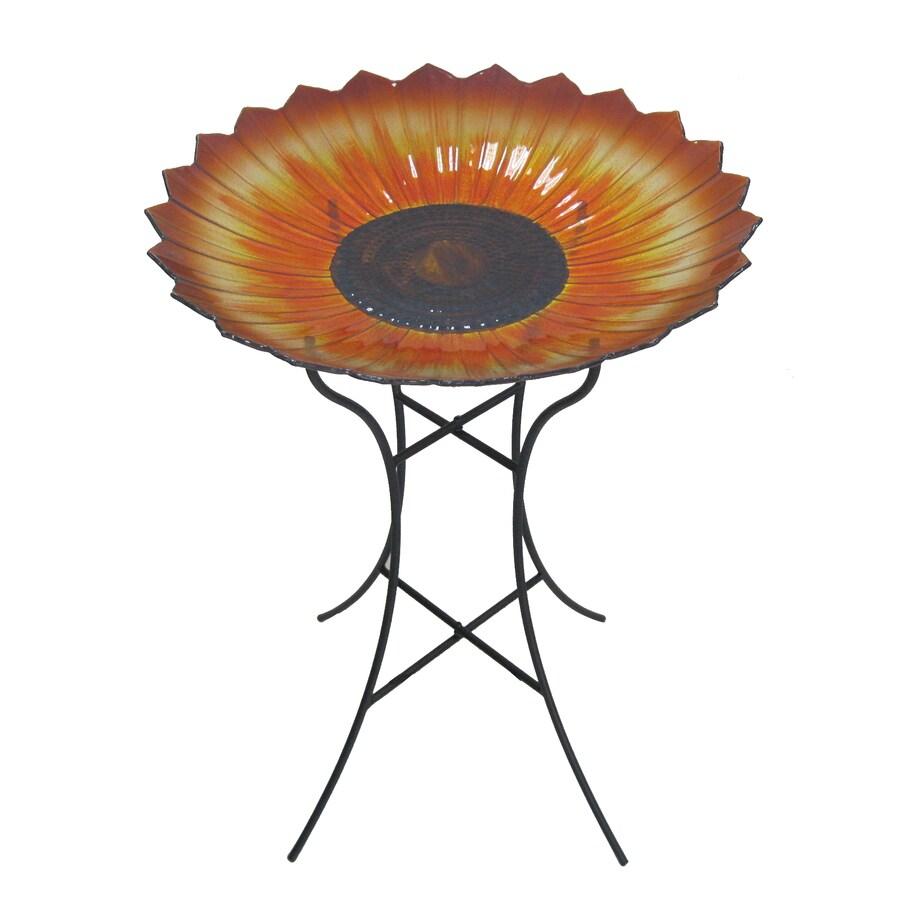 Garden Treasures Sunflower 1-Tier Birdbath