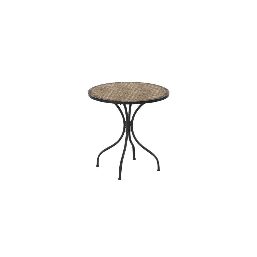 Garden Treasures Key Largo 30-in x 30-in Steel Round Patio Dining Table