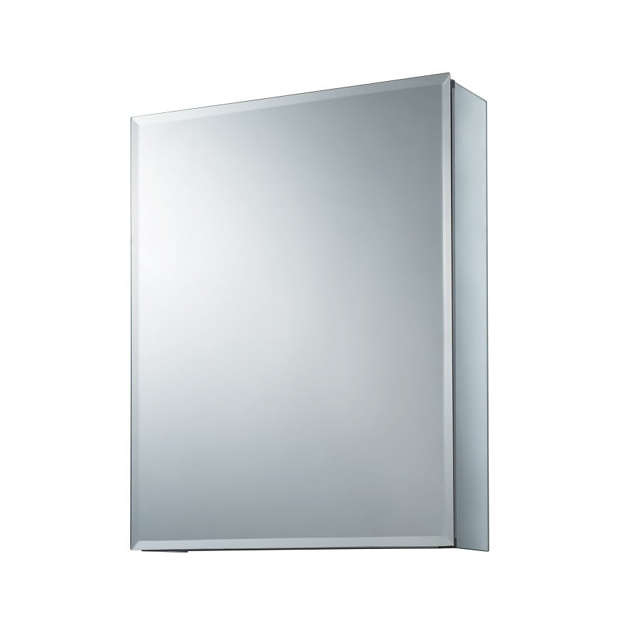 allen + roth 16-in x 20-in Rectangle Surface/Recessed Mirrored Aluminum Medicine Cabinet