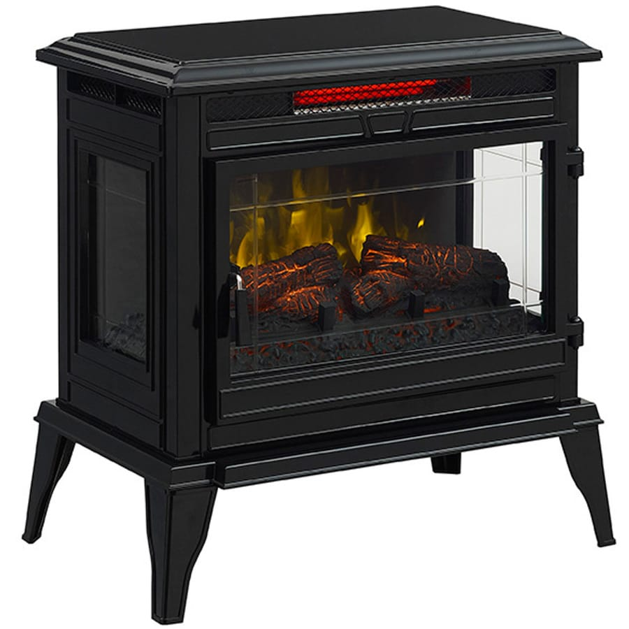 Mr. Heater 24-in W 5,200-BTU Black Metal Flat Wall Infrared Quartz Electric Stove with Thermostat and Remote Control