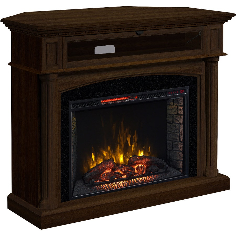 SCOTT LIVING 54-in W 5,200-BTU Marquis Birch MDF Infrared Quartz Electric Fireplace with Thermostat and Remote