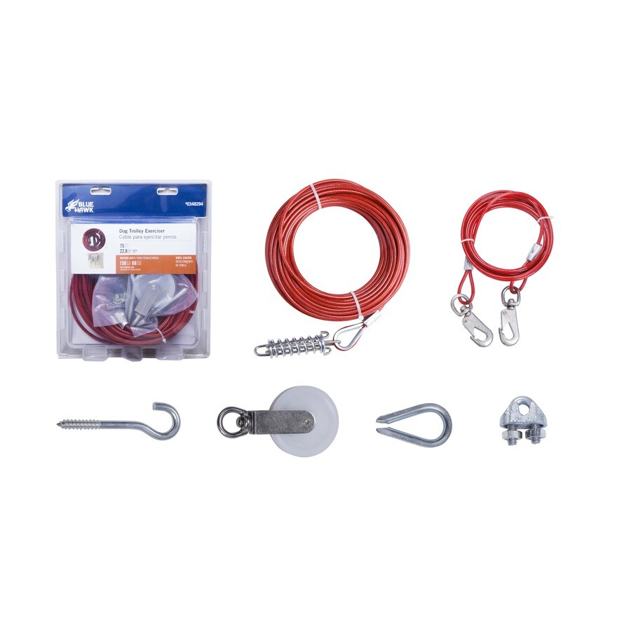 Blue Hawk 75-ft Weldless Galvanized-Red Vinyl Coated Steel Cable