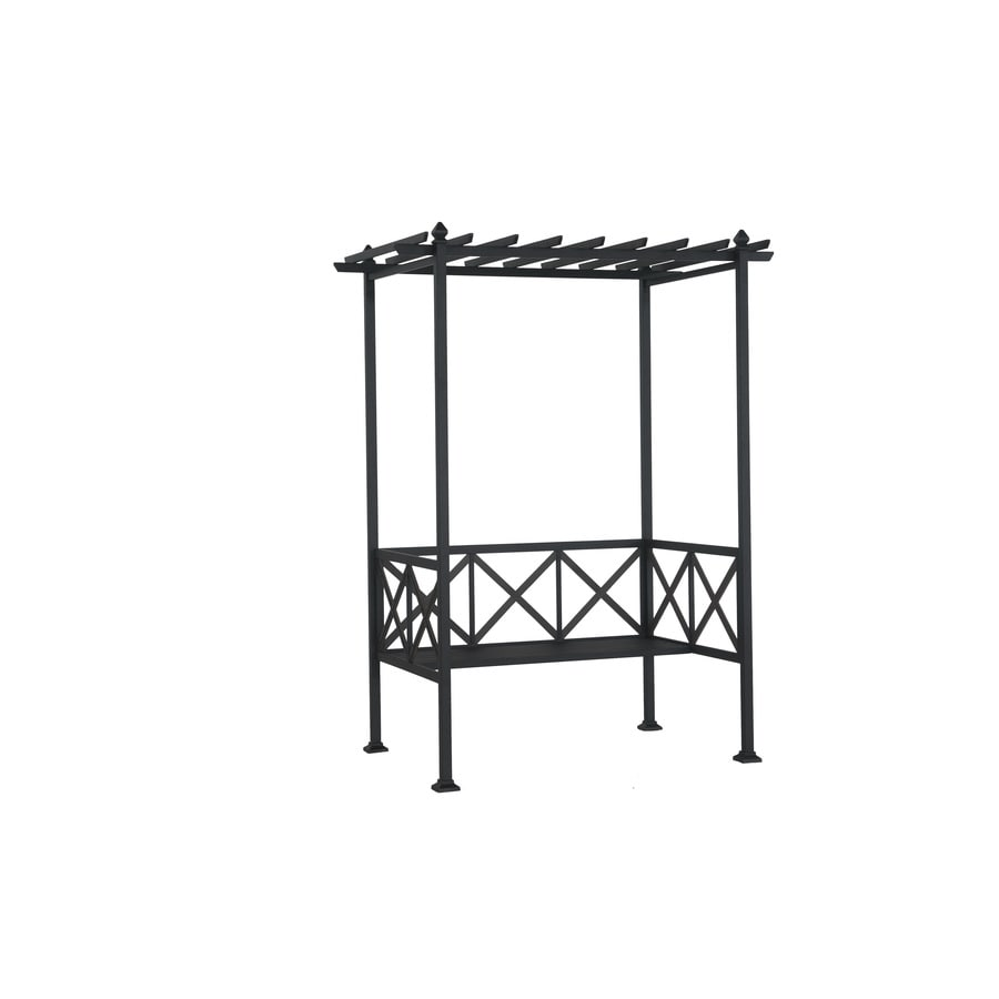 Garden Treasures 65.4-in W x 86-in H Brown Straight Upward Garden Arbor