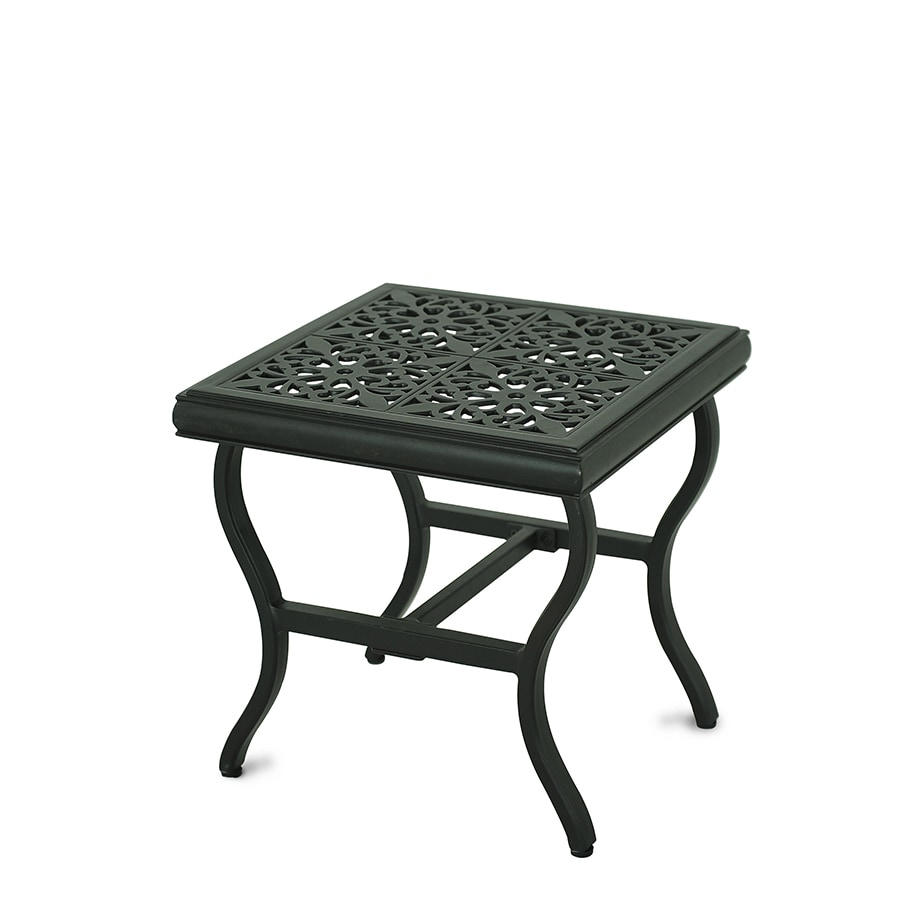 allen + roth Belthorne 18-in W x 18-in L Square Steel End Table
