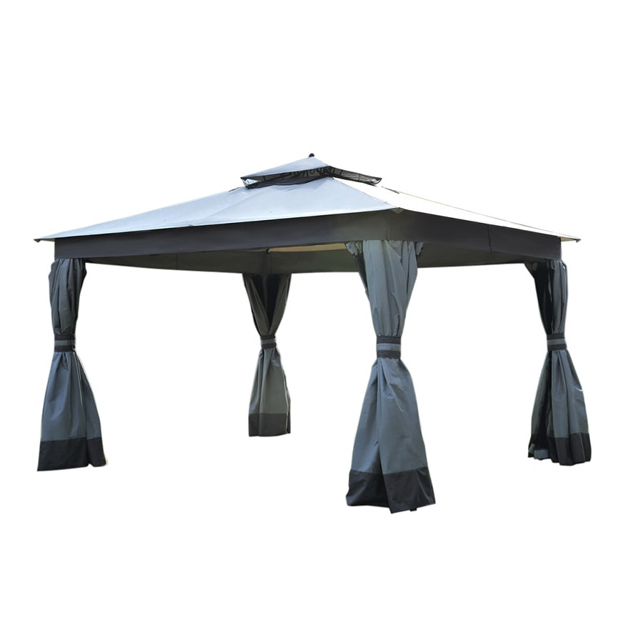 Shop Allen Roth Caster Gray Replacement Canopy Top At