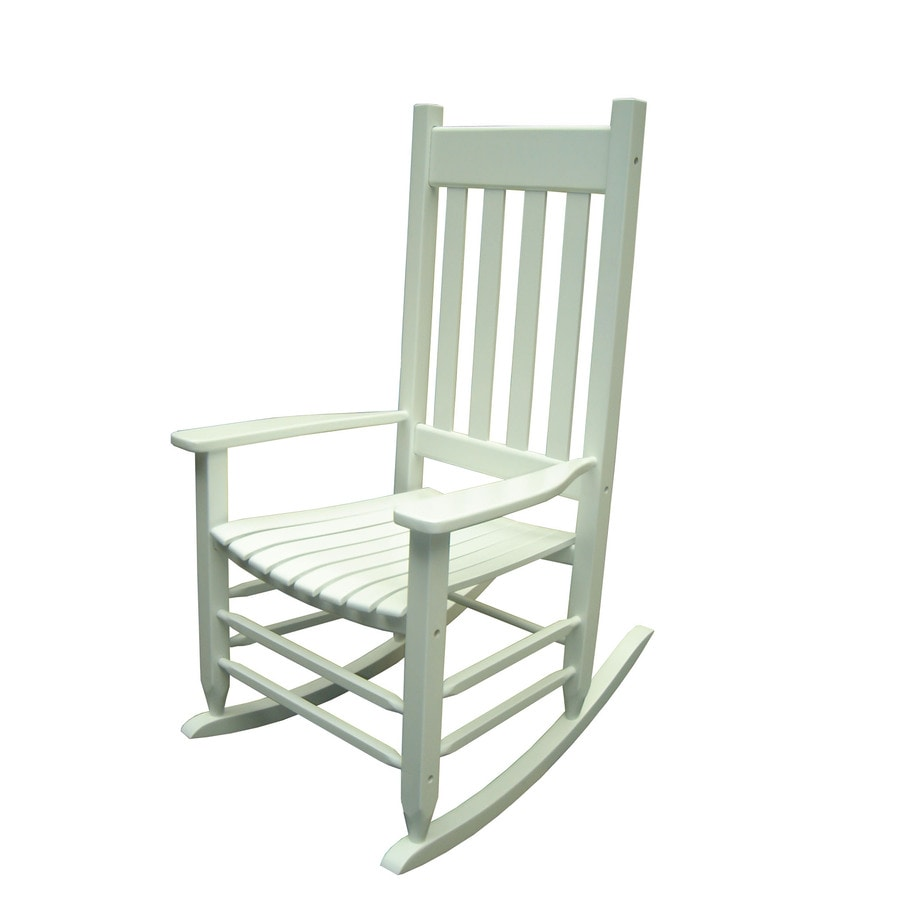 Shop Garden Treasures White Outdoor Rocking Chair at Lowes.com
