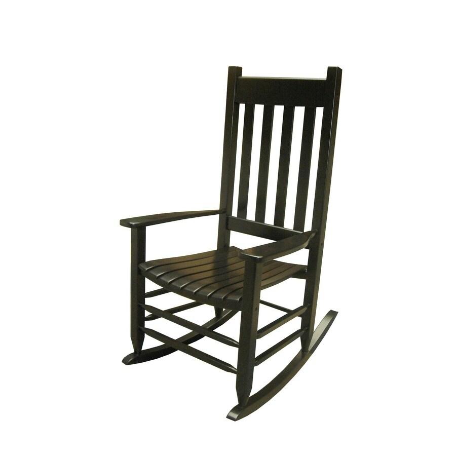 Garden Treasures Black Outdoor Rocking Chair