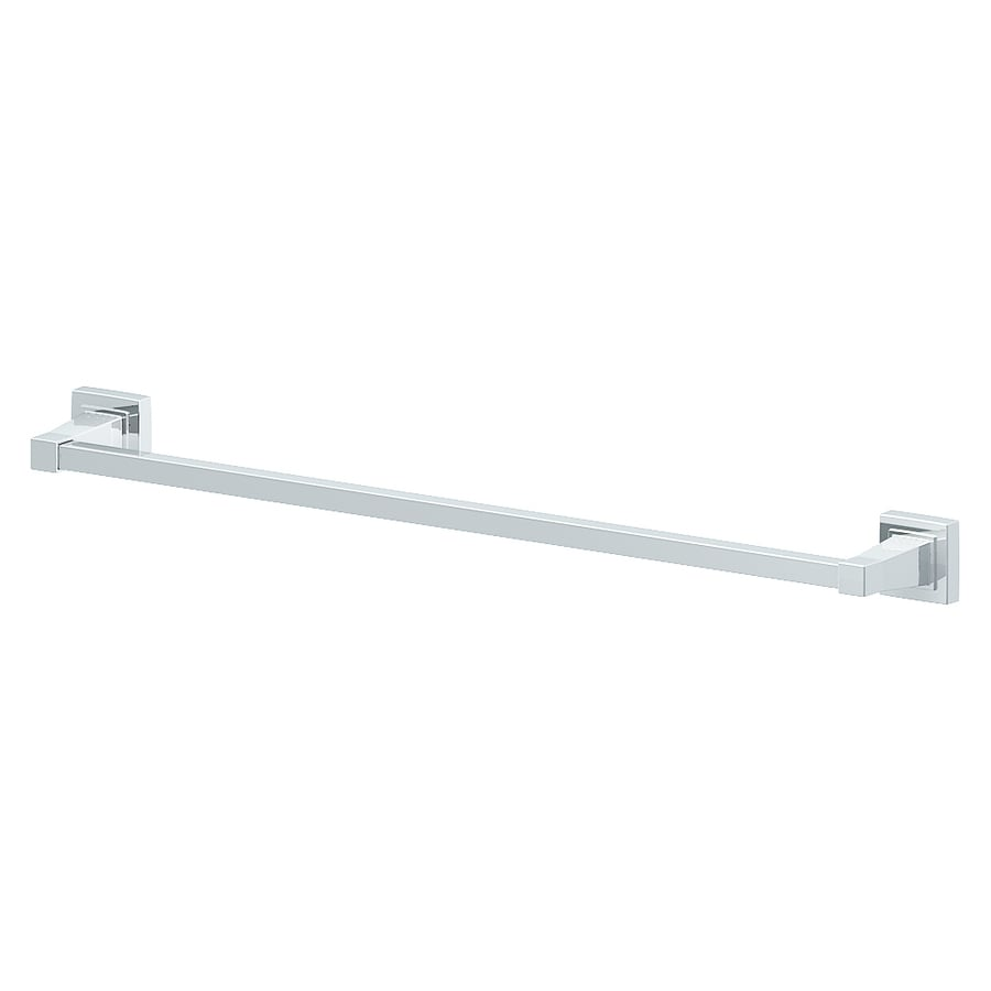 Style Selections Greenville Polished Chrome Single Towel Bar (Common: 24-in; Actual: 26.07-in)