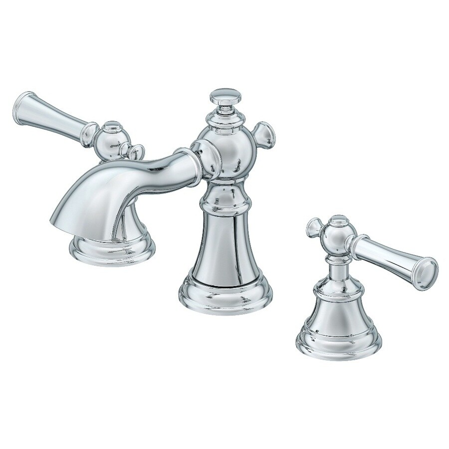 AquaSource Glyndon Polished Chrome 2-Handle Widespread WaterSense Bathroom Faucet (Drain Included)