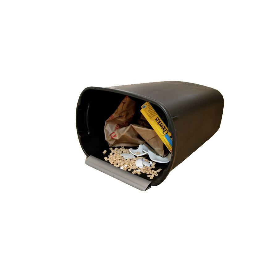 INCREDIBLE Plastics 13-Gallon Black Plastic Trash Can with Lid