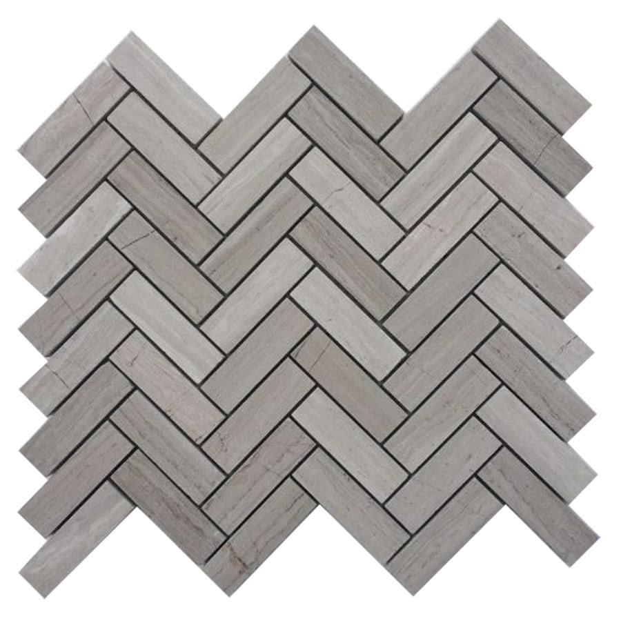 Shop Cci Gray Mosaic Floor Tile Common 12 In X 12 In Actual 10 8 In X 12 4 In At