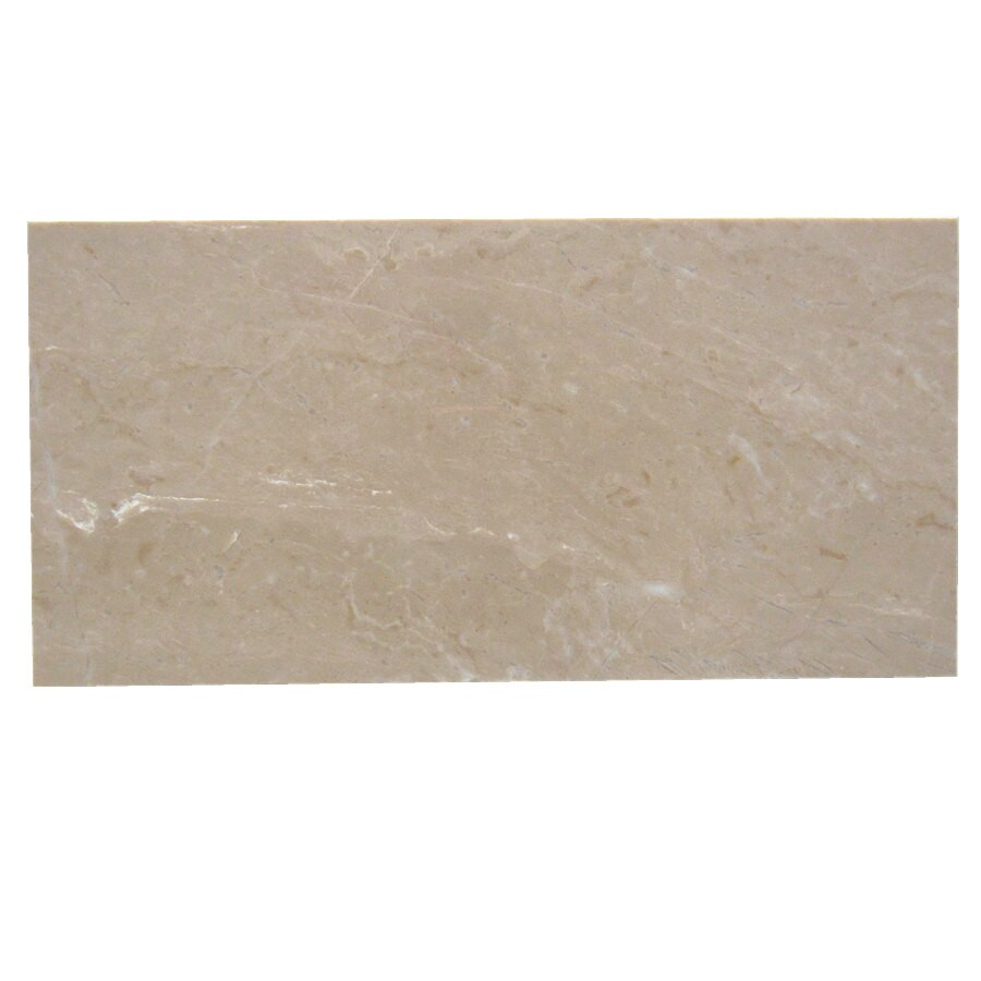 allen + roth Beige/Polished Wall Tile (Common: 6-in x 12-in; Actual: 11.96-in x 5.86-in)