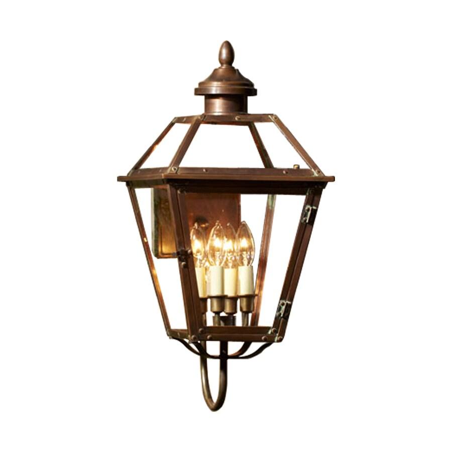 allen + roth New Vineyard 23.25-in H Antique Copper Outdoor Wall Light