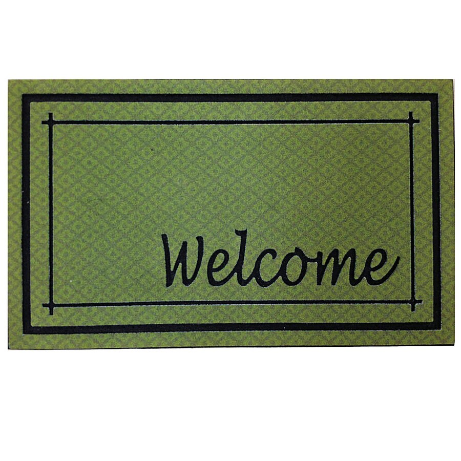 Green Rectangular Door Mat (Common: 18-in x 30-in; Actual: 18-in x 30-in)