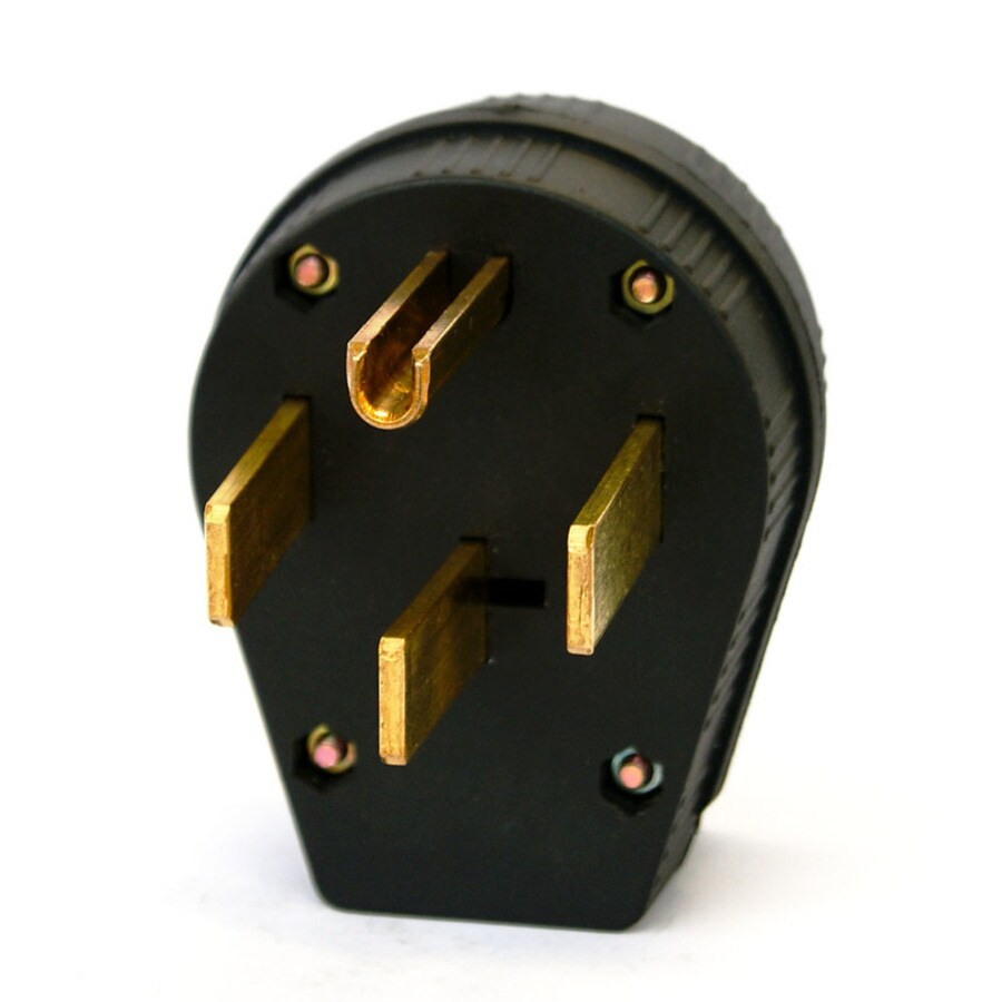 Utilitech 50-Amp 125/250-Volt Black 4-Wire Grounding Plug