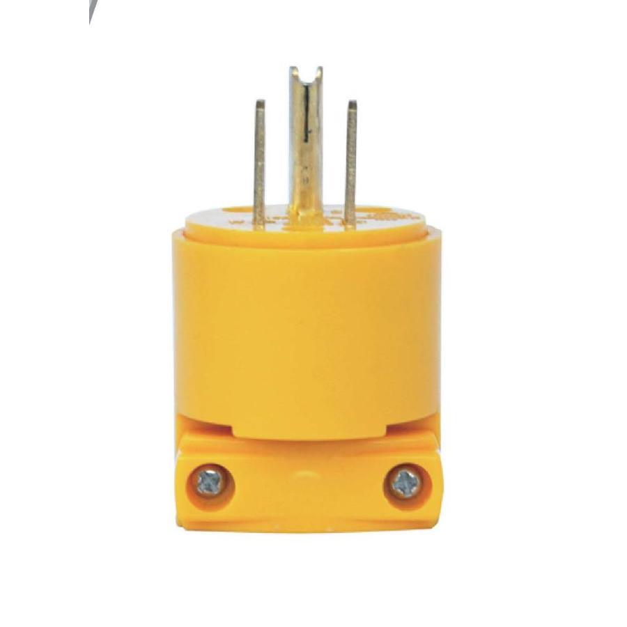 Utilitech 15-Amp 125-Volt Yellow 3-Wire Grounding Plug