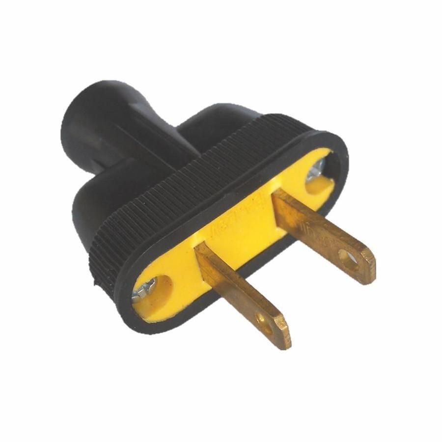 Project Source 15-Amp 125-Volt Black 2-Wire Plug