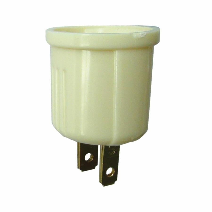 Project Source 660-Watt Ivory Medium Light Socket Adapter