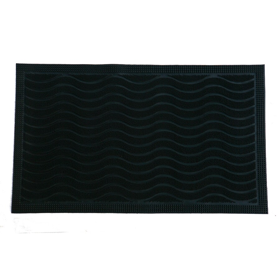 Style Selections Black Rectangular Door Mat (Common: 18-in x 30-in; Actual: 17.7-in x 29.5-in)