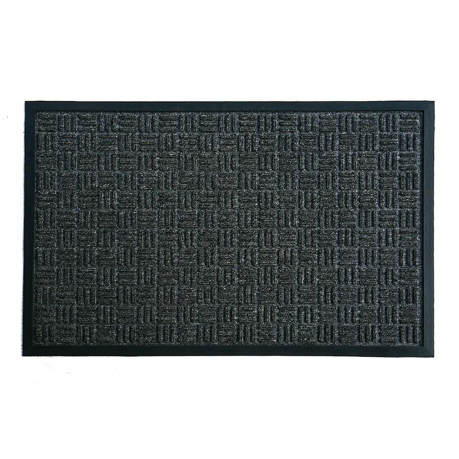 Blue Hawk Charcoal Rectangular Door Mat (Common: 24-in x 36-in; Actual: 23.5-in x 35.5-in)