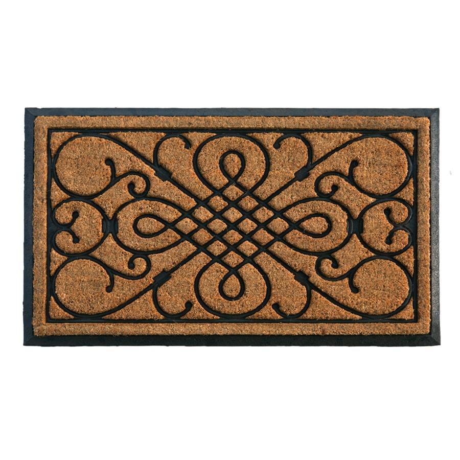 Style Selections Natural/Black Rectangular Door Mat (Common: 24-in x 36-in; Actual: 24-in x 39-in)