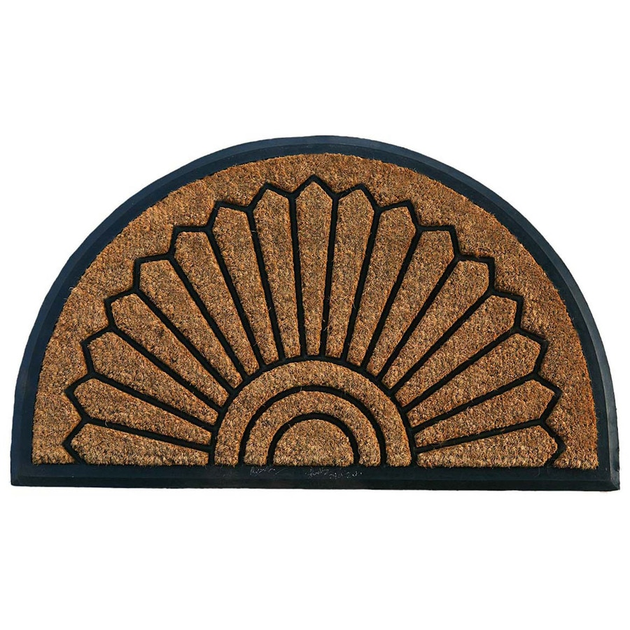 allen + roth Natural/Black Semicircle Door Mat (Common: 24-in x 36-in; Actual: 23-in x 38-in)