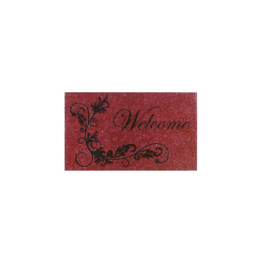 allen + roth Red Rectangular Door Mat (Common: 18-in x 30-in; Actual: 17-in x 29-in)
