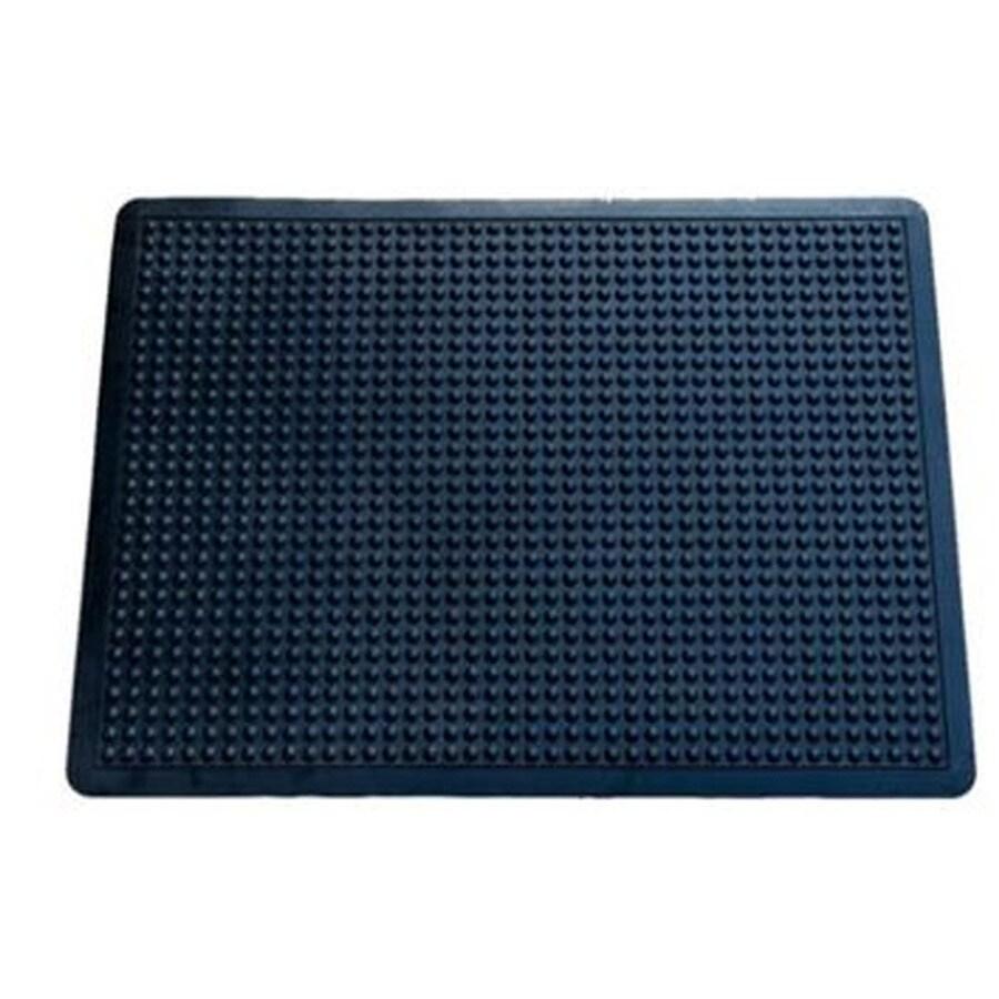 Blue Hawk Black Rectangular Door Mat (Common: 24-in x 36-in; Actual: 23.75-in x 35.75-in)