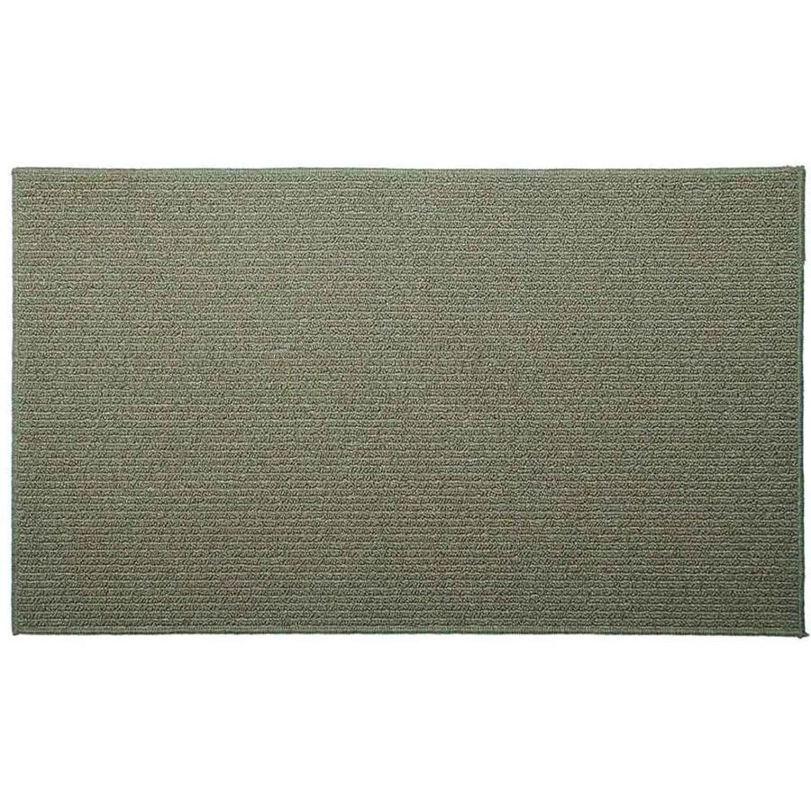 Style Selections Lichen Corn Rectangular Indoor Tufted Throw Rug (Common: 2 x 3; Actual: 24-in W x 40-in L)