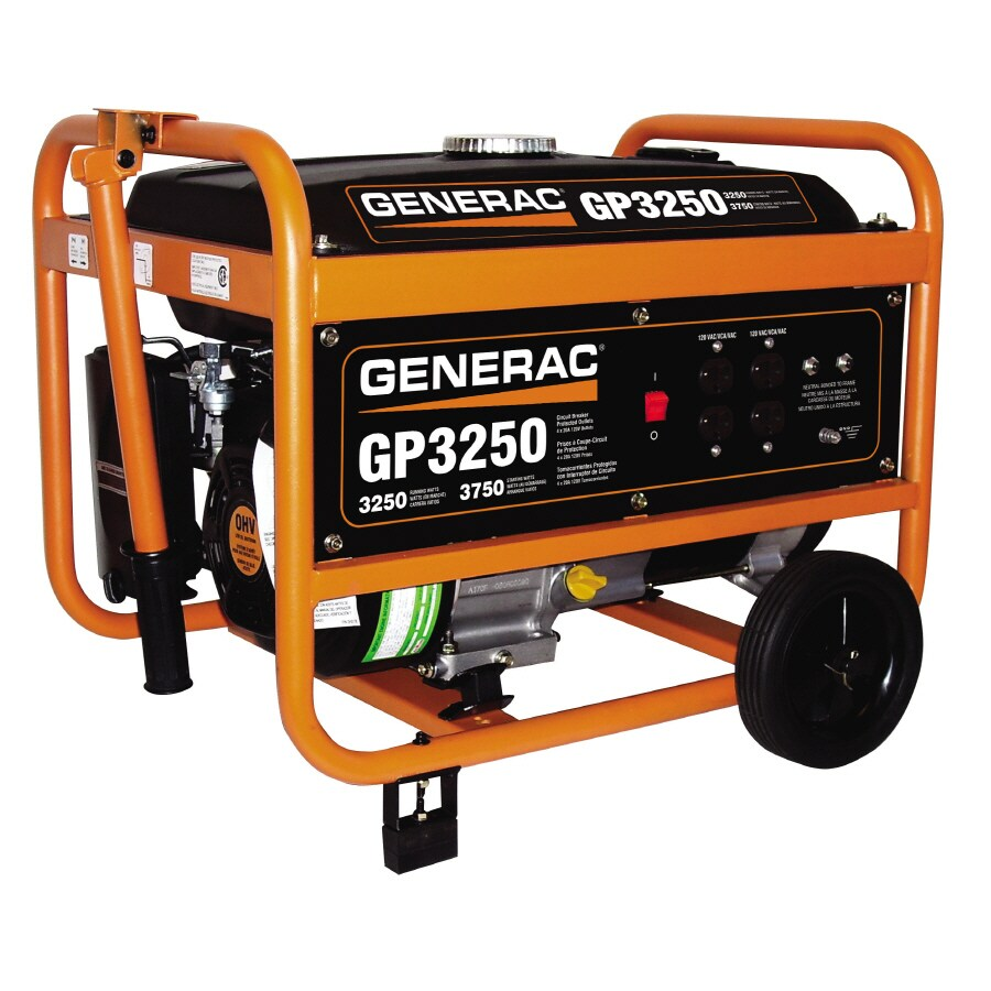 Generac GP 3,250-Running Watts Portable Generator with Generac Engine