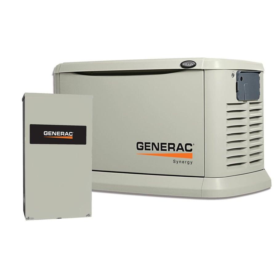 Generac Synergy 20,000-Watt (LP) / 18,000-Watt (NG) Standby Generator with Automatic Transfer Switch