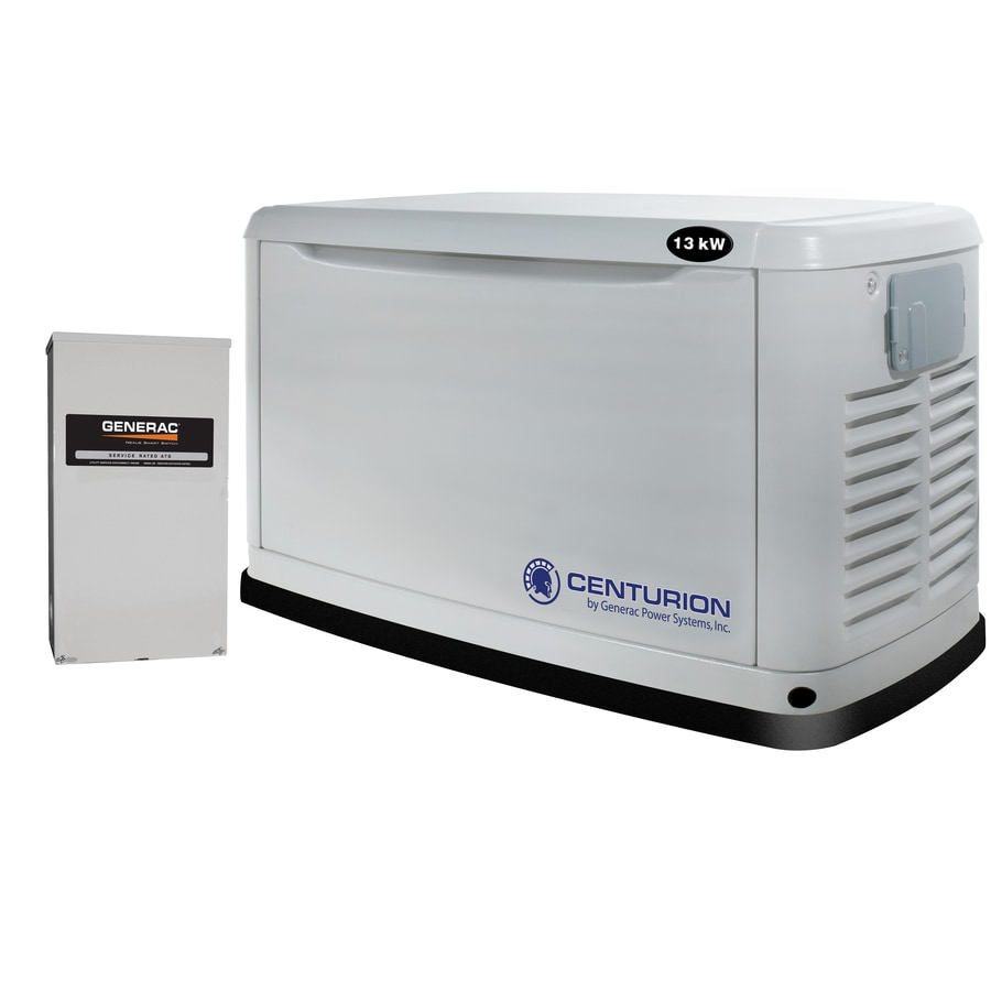 Centurion by Generac Power Systems 13,000-Watt (LP)/13,000-Watt (NG) Standby Generator with Generac Engine and Automatic Transfer Switch