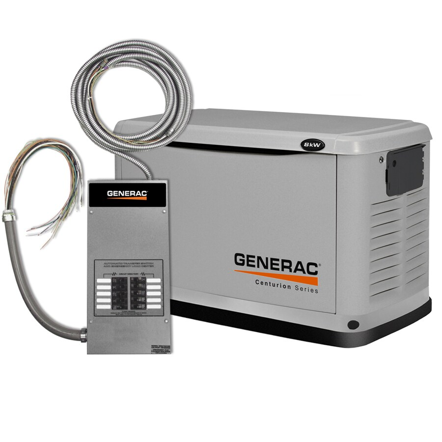 Generac Centurion 8000-Watt (LP)/7000-Watt (NG) Standby Generator with Automatic Transfer Switch