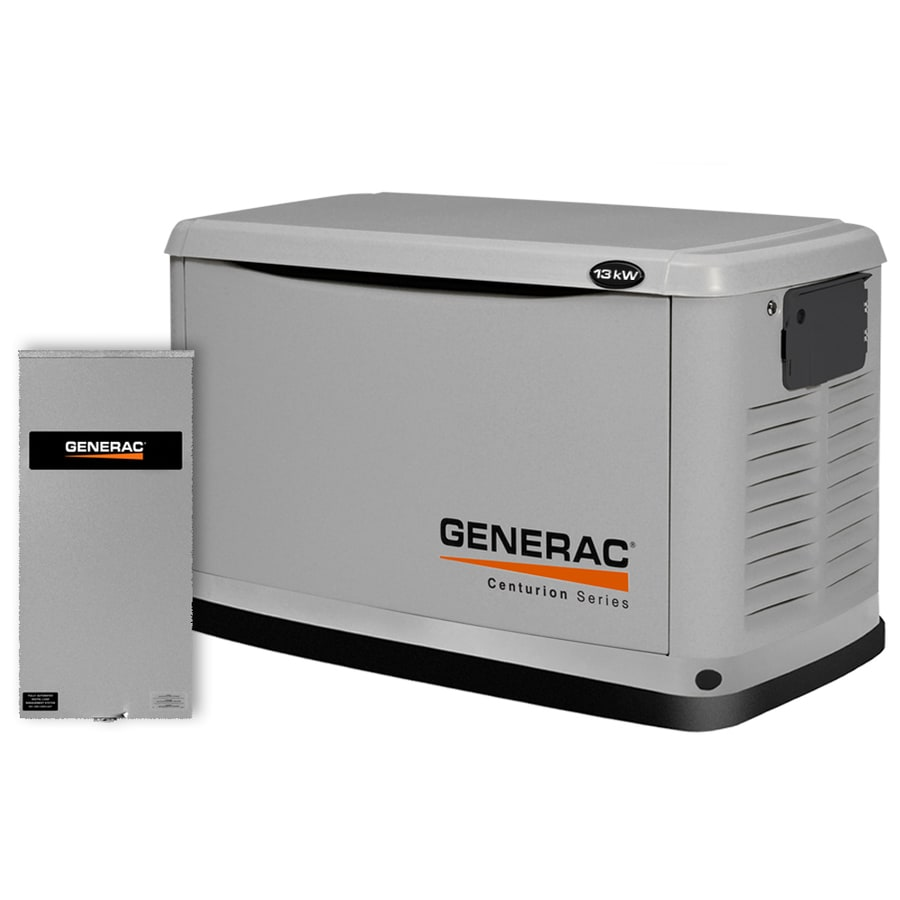 Generac Centurion 13000-Watt (LP)/13000-Watt (NG) Standby Generator with Automatic Transfer Switch