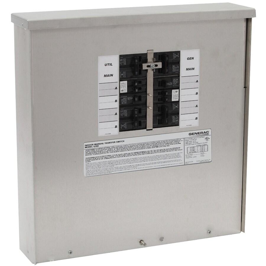 Generac 30-Amp 10-Circuit Transfer Switch