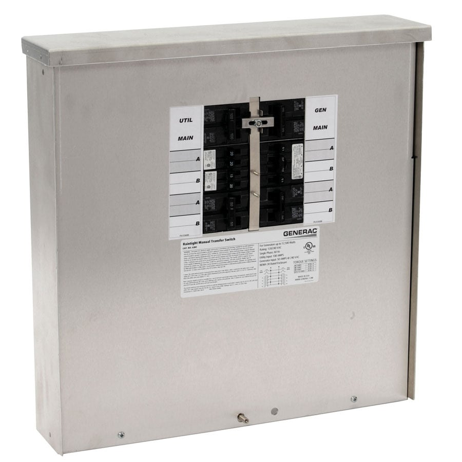 Generac 50-Amp 12-Circuit Transfer Switch