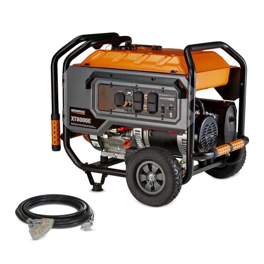 Generac XT 8000-Running Watts Portable Generator with Engine