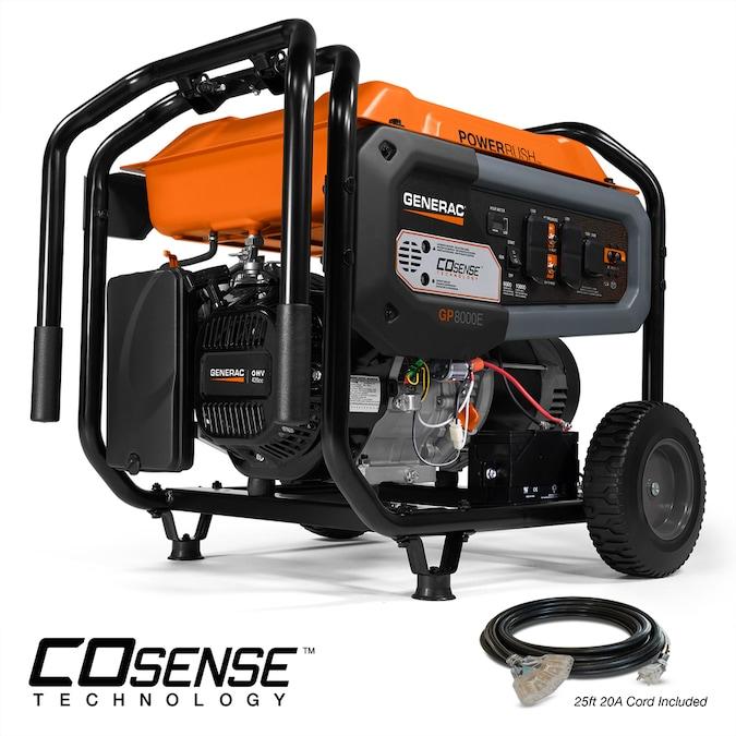 Generac GP Series 8000-Watt Gasoline Portable Generator CO Shutdown Sensor