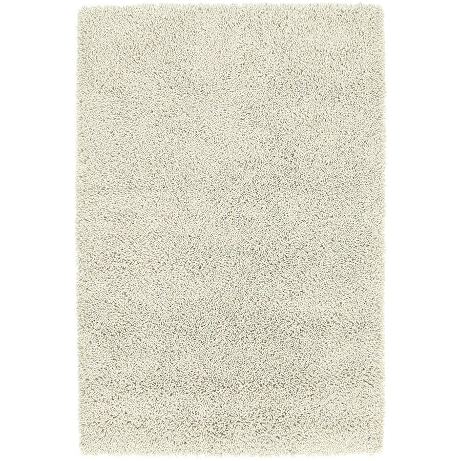 Kaleen Desert Song Shag Cream Rectangular Indoor Shag Area Rug (Common: 8 x 10; Actual: 96-in W x 120-in L)