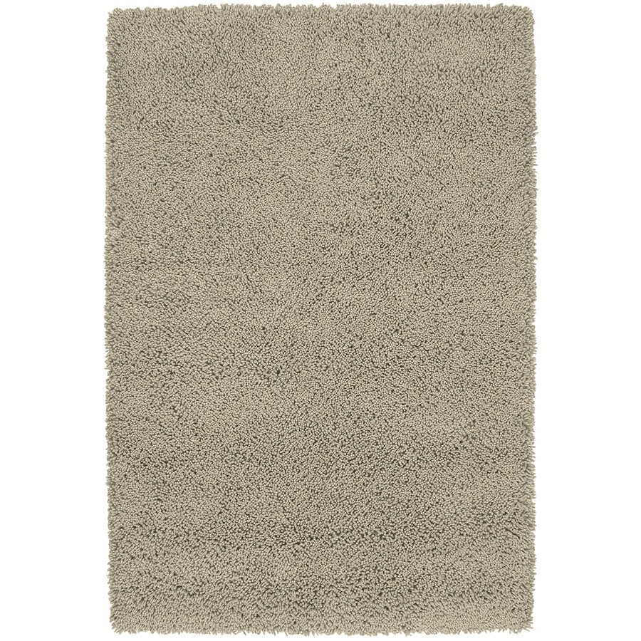 Kaleen Desert Song Shag Taupe Rectangular Indoor Shag Area Rug (Common: 5 x 8; Actual: 60-in W x 93-in L)