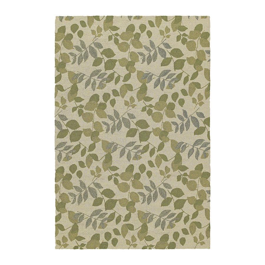 Kaleen Home and Porch 7-ft 6-in x 5-ft Rectangular Cream Floral Indoor/Outdoor Area Rug