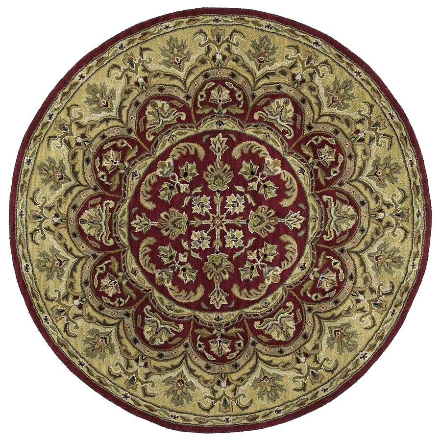 Kaleen Tara Red Round Indoor Tufted Area Rug (Common: 6 x 6; Actual: 69-in W x 69-in L)