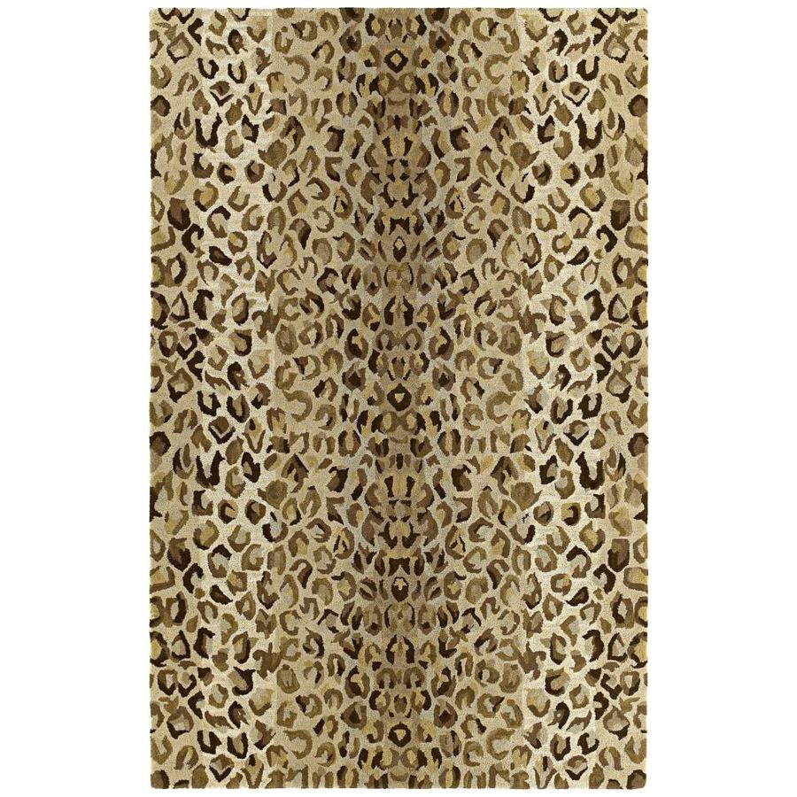 Kaleen Khazana Rectangular Brown Transitional Tufted Wool Area Rug (Common: 8-ft x 11-ft; Actual: 8-ft x 11-ft)
