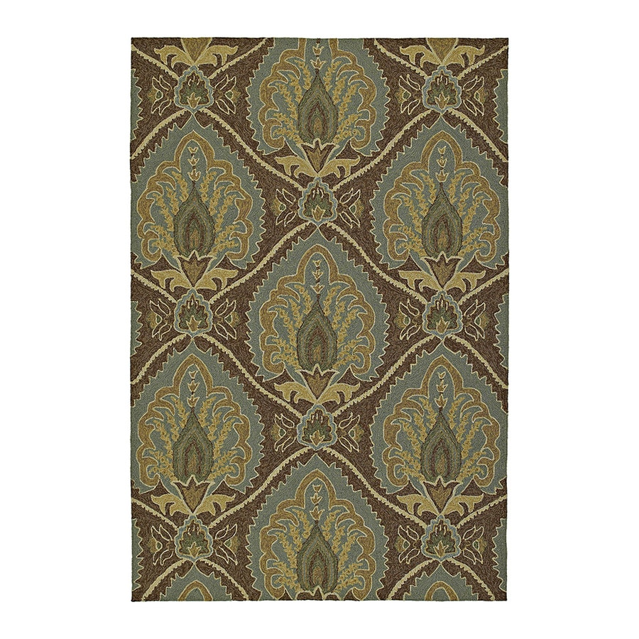 Kaleen Home and Porch Rectangular Brown Floral Tufted Accent Rug (Common: 3-ft x 5-ft; Actual: 60-in x 36-in)