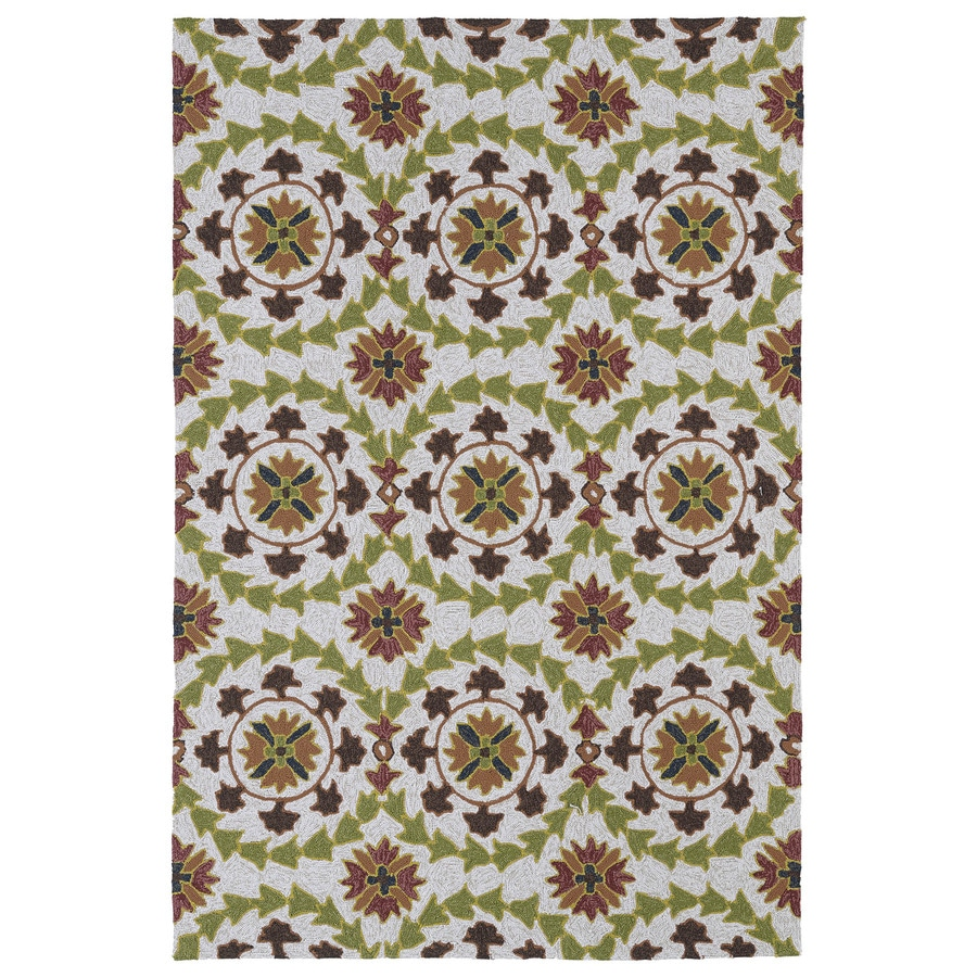 Kaleen Home and Porch Brown Rectangular Indoor and Outdoor Tufted Area Rug (Common: 5 x 8; Actual: 60-in W x 90-in L)