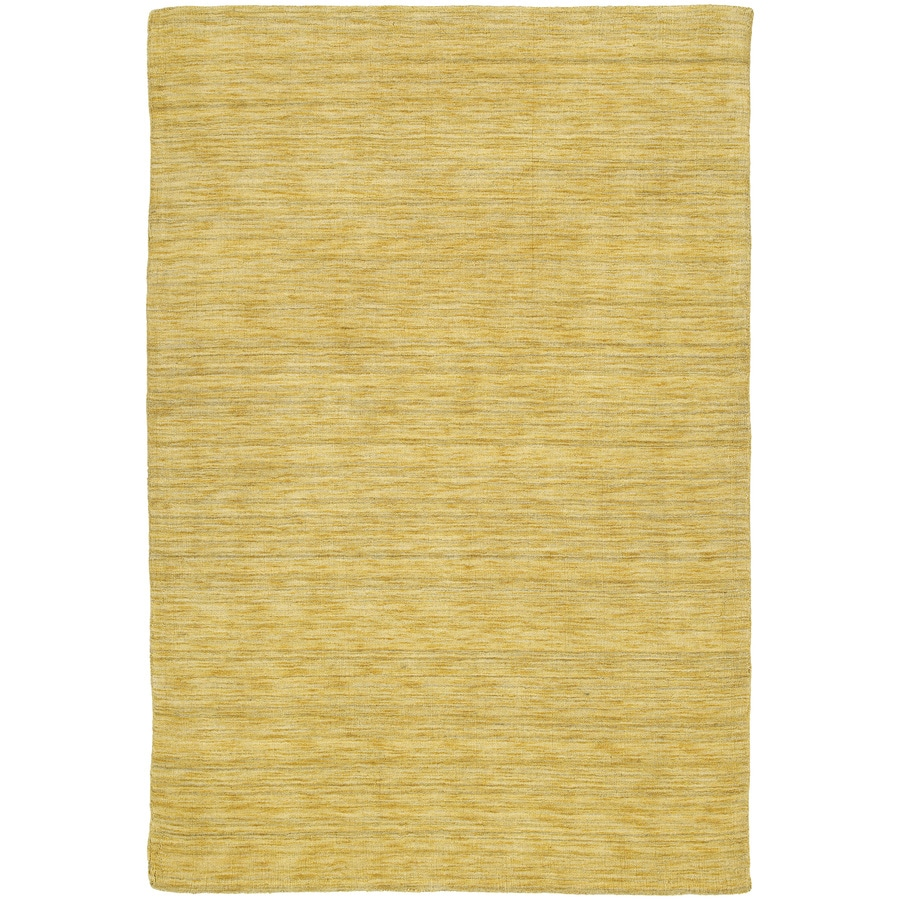 Kaleen Regale Rectangular Yellow Solid Tufted Wool Area Rug (Common: 5-ft x 8-ft; Actual: 5-ft x 7.5-ft)