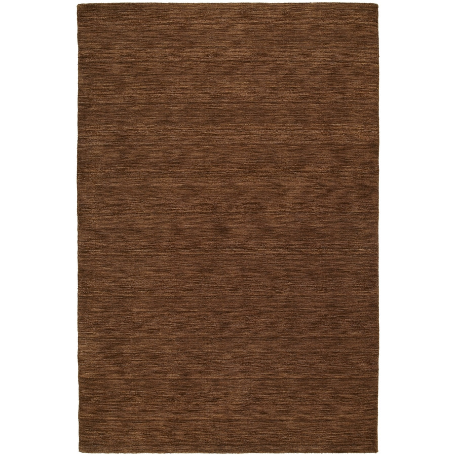 Kaleen Regale Rectangular Brown Solid Tufted Wool Area Rug (Common: 8-ft x 10-ft; Actual: 7.5-ft x 9-ft)