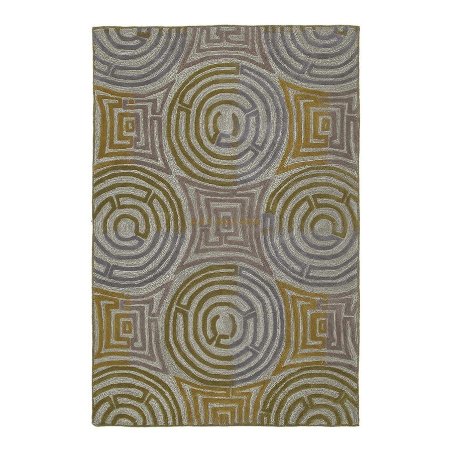 Kaleen Premier 5-ft x 7-ft 6-in Rectangular Gray Floral Area Rug