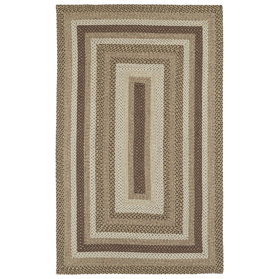 Kaleen Bimini Mocha Rectangular Indoor and Outdoor Hand-Hooked Area Rug (Common: 5 x 8; Actual: 60-in W x 96-in L)